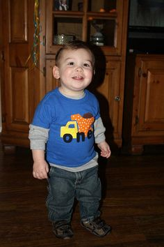 Boy's One Year Shirt by SwankyPankyDesigns on Etsy, $20.00