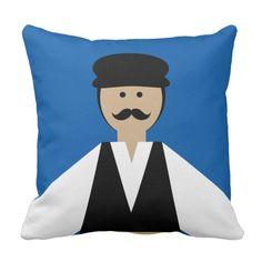 Trikeri Greece Man Dancer Throw Pillow #trikeri #greece #greeksouvenir