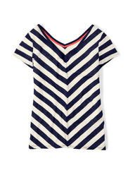 Mariella Tee Short Sleeved Tops at Boden. love the v in back and angled stripes Boden Clothing, Women's Clothing, Stitch Fix Outfits, Stitch Fix Stylist, Navy Women, Summer Wardrobe, Cute Tops, Cool T Shirts, Love Fashion