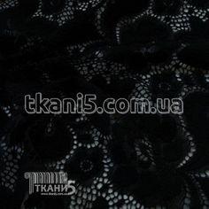 Ткань Гипюр набивной ( черный ) - Ткани Оптом в Харькове