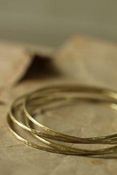 Brass Hoop Bangle 1.5mm | IRRE