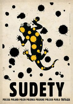 Ryszard Kaja, Sudety, Salamandra, Polish Promotion Poster
