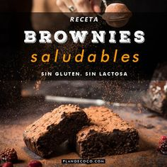 Healthy Sweet Snacks, Healthy Deserts, Healthy Sweets, Vegan Desserts, Sweets Recipes, My Recipes, Baking Recipes, Healthy Brownies, Light Snacks