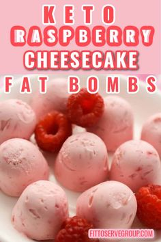 Keto raspberry cheesecake fat bombs are the frozen treat you've been waiting for! They're like tiny bite-sized frozen low carb raspberry cheesecakes that are actually good for you. Imagine a fat bomb recipe that tastes like dessert. Raise your ketone levels naturally with this easy raspberry fat bomb recipe keto fat bombs| low carb fat bombs| cheesecake fat bombs Frozen Cheesecake, Cheesecake Fat Bombs, Raspberry Cheesecake, Keto Fat, Low Carb Keto, Low Carb Recipes, Cream Cheese Fat Bombs, Cream Cheese Recipes, Sweet Fat Bombs