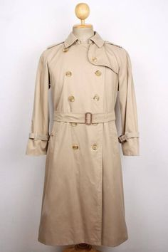 a764276eb207 Womens BURBERRY London Belted Trench Over Coat Size Medium Beige