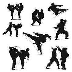 karate action 10 - Acquista questo vettoriale stock ed esplora vettoriali simili in Adobe Stock | Adobe Stock Karate Kata, Brazilian Jiu Jitsu, Adobe, Action, Workout, Image, Group Action, Cob Loaf, Work Outs