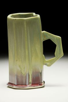 Fong Choo,  Mug Porcelain, extruded, cone 6 oxidation fired, 6 x 4.5 x 3 inches