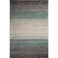 Fireside Blue, Beige, and Grey Area Rug (7'6 x 9'5)