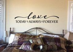 Amor hoy siempre forever-pared arte cita de por WildEyesSigns