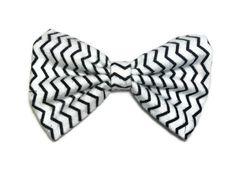 Zig Zag fabric hair bow
