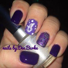 loving my purple nails