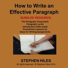 This bundled resource includes the following:   MP3 (paragraph song) Paragraph Song lyrics MP4 - introduction video Four powerpoint lessons Slides containing ideas for writing assignments   The lessons contained herein span four 50 minute class periods.