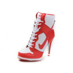 outlet store 67ff3 cb5a0 Women Nike Dunk SB High Heels White Red Cheap Nike Running Shoes, Buy Nike  Shoes