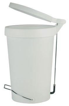 Poubelle à pédale Tip / 30 Litres Blanc-gris - Authentics