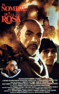 The Name of the Rose , starring Sean Connery, Christian Slater, Helmut Qualtinger, Elya Baskin. An intellectually nonconformist monk investigates a series of mysterious deaths in an isolated abbey. 80s Movies, Great Movies, Movies To Watch, See Movie, Film Movie, Movie Poster Art, Film Posters, Der Name Der Rose, Movies Worth Watching