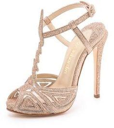 Glam heels for the bride // Max Kibardin Franca Glitter Heels