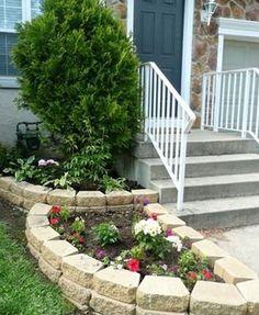 13 idei spectaculoase despre amenajarea gradinii cu pietre de rau si caramida simpla