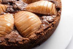 tarte de chocolate e pêra