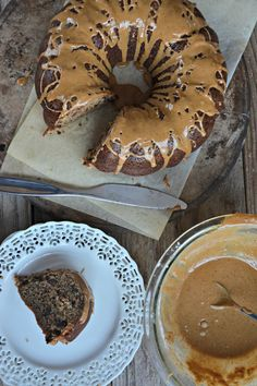 Espresso Brown Butter Banana Bundt Cake with Chocolate Chips is so easy to make and out of this world. It's a hit every time I make it! | mountainmamacooks.com