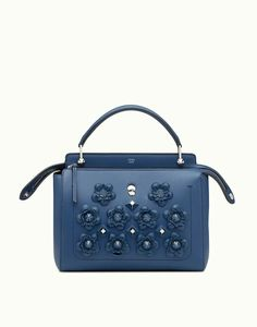 DOTCOM - Bag in blue leather. Discover the new collections on Fendi  official website. 08250fb9aa576