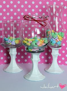 DIY candy jars - could use as flower vase, add water and a floating candle, create a small scene inside, etc.