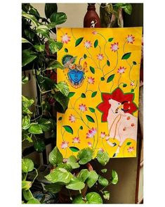 Painting Art Lesson, Water Lilies Painting, Flower Painting, Indian Traditional Paintings, Madhubani Art, Boho Art Painting, Indian Folk Art, Pichwai Paintings, Traditional Paintings