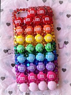 Rainbow mm candy iPhone case