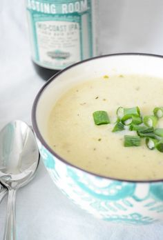 Roasted Garlic and Cauliflower Soup recipe
