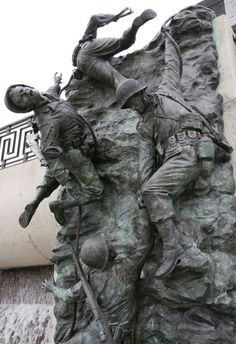 "National D-Day Memorial set to mark 70th anniversary of WWII Normandy landings - ""Scaling the Wall"" a tribute to 2nd Ranger Battallion's assault on Pointe-du-Hoc, during D-Day invasion, at National D-Day Memorial, Bedfore, Va. Veterans - Stripes"
