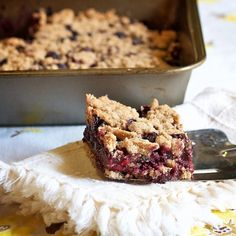 Blueberry Cobbler Bars | Blog | Healthy Aperture