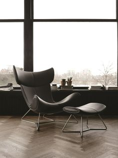 Imola living chair and footstool