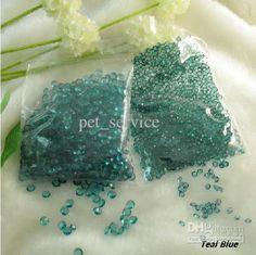 10%OFF,1 Set(1000pcs) 1/3ct 4.5mm Teal Blue Diamond Confetti Wedding Bridal Favour Party Decor