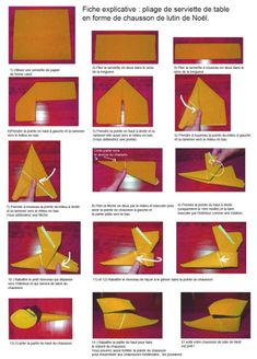 1000 images about pliage pour serviette on pinterest - Pliage serviette pour noel facile ...