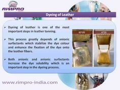 Know about the main leather tanning process and how oil field chemicals from Rimpro India can be applied in these processes. Find out the main properties of surfactant and other oil field chemicals that make them ideal for leather tanning. For more information, visit at http://www.rimpro-india.com/surfactant.html.