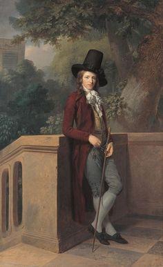 Portrait of Nicolas Châtelain by Johann Friedrich August Tischbein, 1791, Neue Pinakothek by alejandra