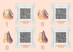 This is so cute animal crossing QR code dress