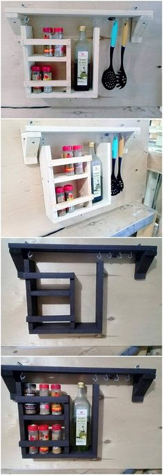 This uniquely designed wood pallet creation is simply the blend of the spice rack as being part of it. Now start thinking for what effective purpose, you will be availing the use of this wood pallet interesting creation! It is light in weight so you can purposely make it adjust in any corner of the kitchen.