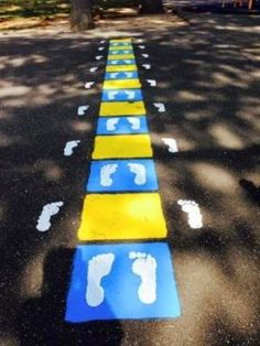Fit and Fun Playscapes - Fitness Agility Ladder Playground Stencil