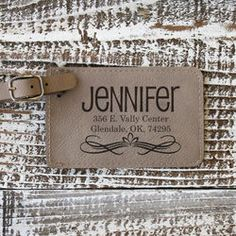 Traveler's Personalized Leather Luggage Tag