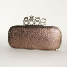 Katie Chamberlain | Knuckle Ring Clutch Bag XL - bronze