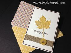 """IMG_1765 Magnificent Maple in """"new color"""" -- crushed curry stamped over with soft suede"""