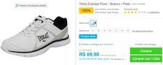 Tênis Everlast River - Branco / Preto << R$ 8990 em 2 vezes >>