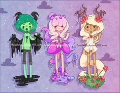 Adoptables Batch 5: CLOSED by Zombutts on DeviantArt