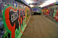 Graffiti Art in Tunnel - Ila (prahatravel) Tags: city urban streetart art colors graffiti tunnel spray ila trondheim tagging vei undergang vision:text=0601 vision:outdoor=0694