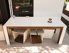 Expandable Table, Big Family, Dinner Table, Furniture Design, Behance, Dining, Gallery, Wood, Check