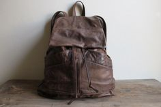 Upcycled leather backpack for your next spontaneous adventuring! $155