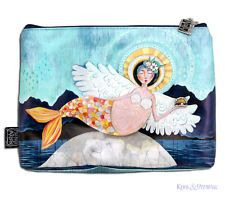 "Colourful ""Mer-Angel"" LARGE Makeup Toiletries Bag by Allen Designs * Mermaid"