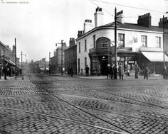 Queens Road and Rochdale Road junction, Collyhurst, Manchester. Old Photos, Vintage Photos, Hearths, Rochdale, Manchester England, Salford, Derbyshire, Amazing Pictures, Good Old