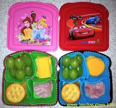 This is perfect for my daughter. Her allergies make it impossible for her to eat regular lunchables! Make your own lunchables in a sandwich box.Much healthier and cheaper than Oscar Mayer ones. Toddler Meals, Kids Meals, Toddler Food, Lunch Snacks, Healthy Snacks, Kid Snacks, Fruit Snacks, Eat Healthy, Sandwich Box