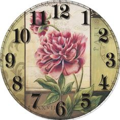 "Zhui Star New Full Square Diamond DIY Diamond Painting ""clock"" Embroidery Cross Stitch Rhinestone Mosaic Painting Vintage Cards, Vintage Images, French Vintage, Decoupage Vintage, Decoupage Paper, Clock Printable, Clock Craft, 5 April, Background Vintage"